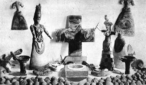 Ancient image of Cross of Knossos