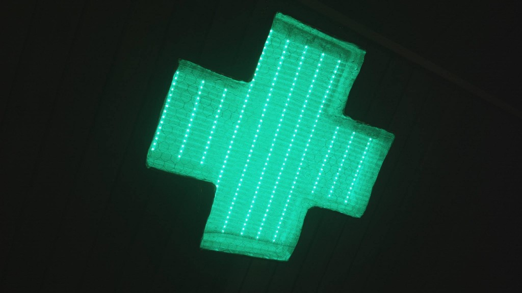 A Music Synced Multicolor LED Stage Light - Shaped as a Laibach Cross (4)