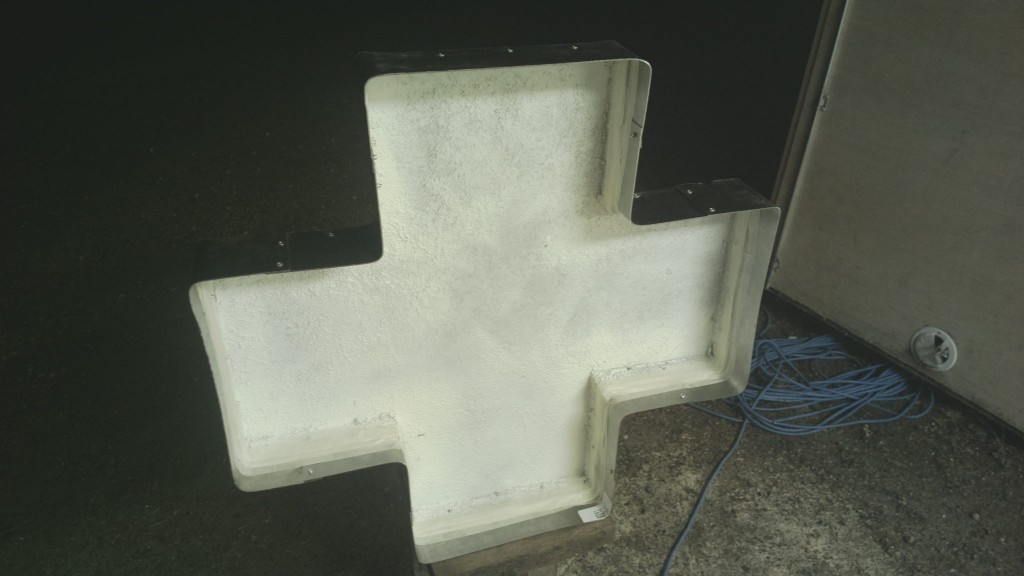 A Music Synced Multicolor LED Stage Light - Shaped as a Laibach Cross (1)
