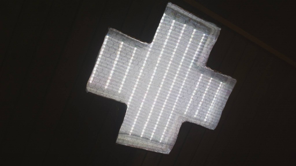A Music Synced Multicolor LED Stage Light - Shaped as a Laibach Cross (3)