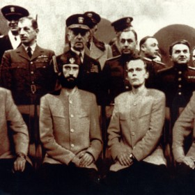 Laibach on Jalta (album NATO) 1994,  photo by Diego Andrez Gomez, edited by Tandar