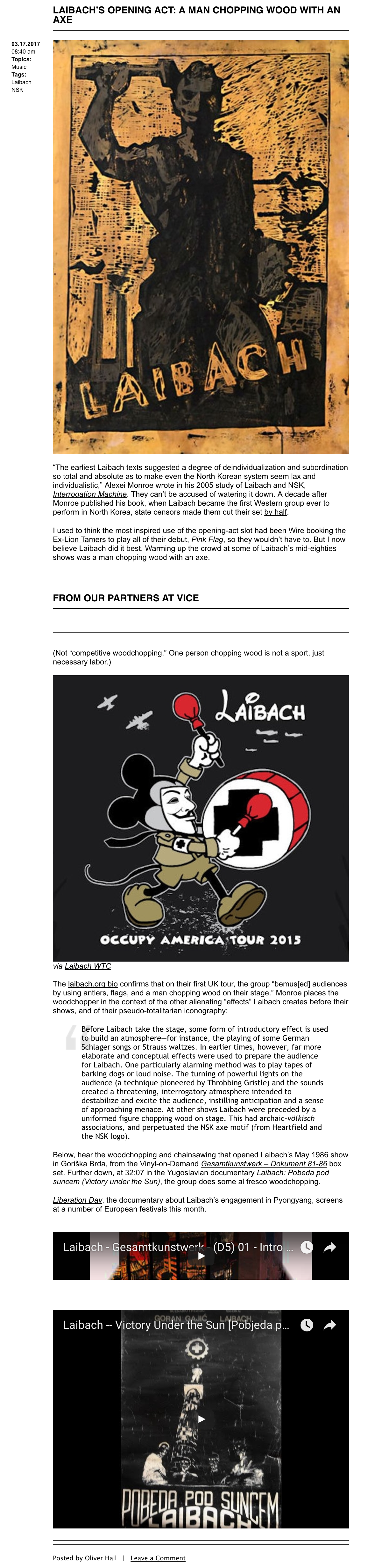Articles in English ‹ Archive Categories ‹ Laibach