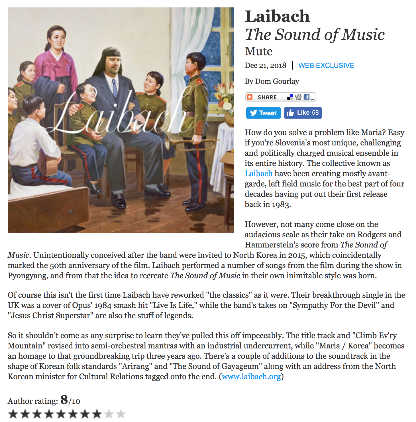 The Sound Of Music ‹ Laibach